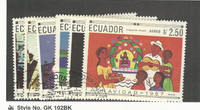 Ecuador, Postage Stamp, #765-765E Used, 1967 Christmas