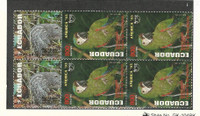 Ecuador, Postage Stamp, #1324-1325 Mint NH Blocks, 1993 Bird, Animal