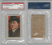 T82 Recruit, Movie Stars, 1910, William Farnum, PSA 2 Good,