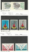 Ethiopia, Postage Stamp, #468-9 Mint NH, 470-2 Hinged, 500-1 LH, 1966-68