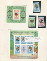 Dominica, Postage Stamp, #701-704 Mint NH Sheets & Set, 1981 Princess Diana