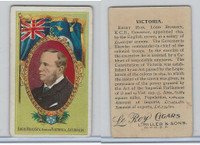 T98 LeRoy Cigars, Rulers of the World, 1900 Flag, Australia, Victoria, Brassey