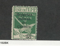 Fiume (Italy), Postage Stamp, #116 Mint Hinged, 1920