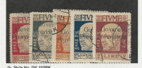 Fiume (Italy), Postage Stamp, #135-138, 144 Used, 1921