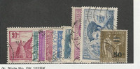 France, Postage Stamp, #290-298 Used, 1933-34
