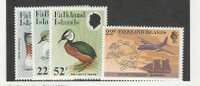 Falkland Islands, Postage Stamp, #488-411 Mint LH, 1984 Birds, Airplane