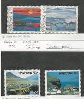 Faroe Islands, Postage Stamp, #166-167, 250-251 Mint NH, 1987-93