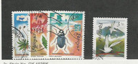 Faroe Islands, Postage Stamp, #216-218, 225 Used, 1991 Bird, Insect