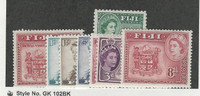 Fiji, Postage Stamp, #146//155 (8 Different) Mint Hinged, 1953-56