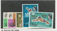 Fiji, Postage Stamp, #224-228 Mint LH, 1966 Sports