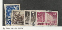 Finland, Postage Stamp, #213-214, 219-219B Used, 1937-42