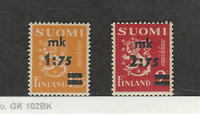 Finland, Postage Stamp, #221-222 Mint Hinged, 1940