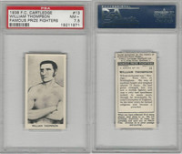C0-0 Cartledge, Famous Prize Fighters, 1938, #13 William Thompson, PSA 7.5 NM+
