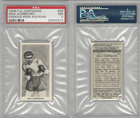 C0-0 Cartledge, Famous Prize Fighters, 1938, #29 Max Schmeling HOF, PSA 7 NM