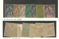 French Polynesia, Postage Stamp, #1-4, 6, 10-11 Mint Hinged, 1892-1907