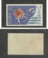 French Polynesia, Postage Stamp, #C33 VF Mint LH, 1965 Space