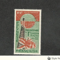 French Polynesia, Postage Stamp, #C39 VF Mint NH, 1965 Radio
