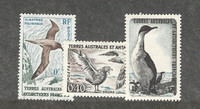 French Southern Antarctic, Postage Stamp, #12-14 Mint Hinged, 1959 Birds