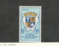French Southern Antarctic, Postage Stamp, #15 VF Mint NH, 1959