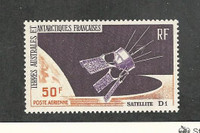 French Southern Antarctic, Postage Stamp, #C11 Mint NH, 1966 Space