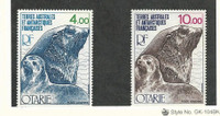 French Southern Antarctic, Postage Stamp, #C47-C48 Mint NH, 1977 Seals