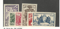 French Sud., Postage Stamp, #106-111 Mint LH, 1937