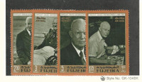 Fujeira, Postage Stamp, Michel #282-285 Mint NH, Eisenhower