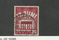 Germany - Berlin, Postage Stamp, #9N100 Used, 1953