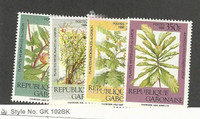 Gabon, Postage Stamp, #630-633 Mint LH, 1988 Plants