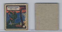 F279-22 Quaker, Kollectors Klub Battle Stamps, 1944, #1 Guadalcanal