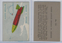 W673 Wildman, Trading Cards, Navy Ships, Airplanes, 1950, #115 Missiles