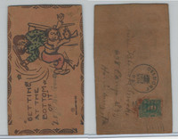 L Misc, Leather Postcard, 1907, Harrisburg, PA, Getting To The Bottom Of It