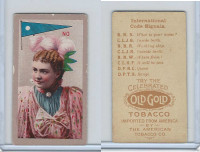 T411 American Tobacco, International Code Signals, 1910, No