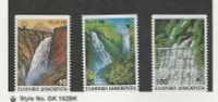 Greece, Postage Stamp, #1628-1630 Mint NH, 1988 Waterfalls