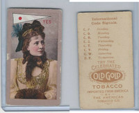 T411 Old Gold Tobacco, International Code Signals, 1910, Yes