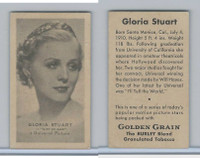 T84 Golden Grain Tobacco, Motion Picture Stars, 1934, Gloria Stuart
