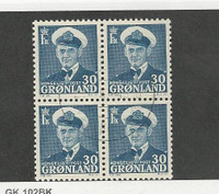 Greenland, Postage Stamp, #33 Block Used, 1950