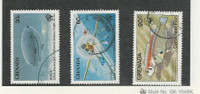 Grenada, Postage Stamp, #1170-1171, 1214 Used, 1983-84 Fish, Airship