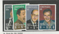 Grenada, Postage Stamp, #2084, 87, 89, 90 Mint NH, 1992 Sinatra USO