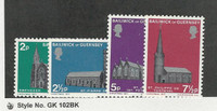 Guernsey, Postage Stamp, #60-63 Mint NH, 1971 Church