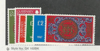 Guernsey, Postage Stamp, #199-203 Mint NH, 1980-81 Coins on Stamps