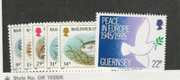 Guernsey, Postage Stamp, #308-312 Mint NH, 1985 Fish