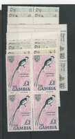 Gambia, Postage Stamp, #216//227 Blocks Mint NH (10 Diff), 1966 Birds (P)