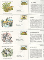 Gambia, Postage Stamp, #341-344 First Day Covers, 1976 Animals WWF
