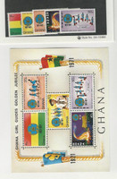 Ghana, Postage Stamp, #421-425a Set & Sheet Mint NH, 1971 Scouting