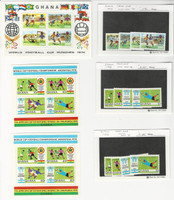 Ghana, Postage Stamp, #525-9, 660-9 Set & Sheet Mint NH, 1974 Football