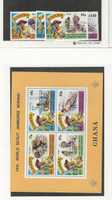 Ghana, Postage Stamp, #578-582 Set & Sheet Mint NH, 1976 Scouting