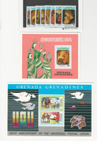 Grenada Grenadines, Postage Stamp, #28, 32-40 Set & Sheet Mint NH, 1974