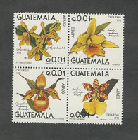 Guatemala, Postage Stamp, #C655a Block Mint NH, 1978 Flowers