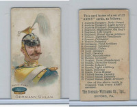E1 Breisch, Army Cards, 1910, #12 German Uhlan